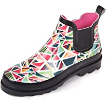 Botas de Lluvia para Mujeres del Festival de Botas de Agua Muy Ligeras de Magi