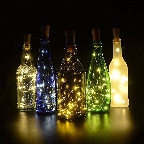 Flaschenlicht, 6 Stück 30inch 15 LED Warmweiß Kupferdraht Lichter String Starry LED Lichter für Flasche DIY, Party, Dekor, Weihnachten, Halloween, Hochzeit oder Stimmung Lichter (Ideen Für Halloween Dekorationen)