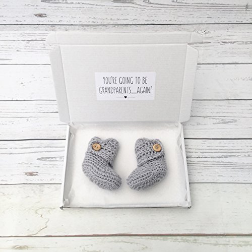 pregnancy announcement booties, going to be grandparents again