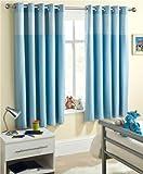 Enhanced Living Curtain Panel (Set of 2) Size: 117cm W x 137cm L, Colour: Blue