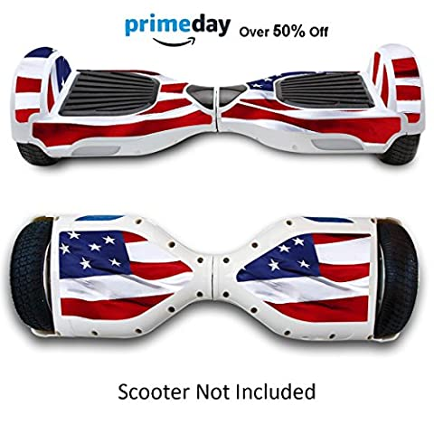 Skin for Self Balancing Scooter Stickers for Scooter Electric Hoover boards Skateboard Decal for Self Balance Electric Skateboard Bluetooth - Cover Fit Real 2 Wheel Scooter - Case Stickers for Motorized Longboard Drifting Boards - Stars &