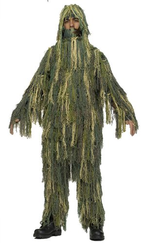 Halloween Kostuem Make-up Party Kleidung Festival Fasching Karneval Cosplay Maskerade JUNGEN F / WORLD GHILLIE KOSTueM ARMY OUTFIT - Alter 12-14 (GRueN)