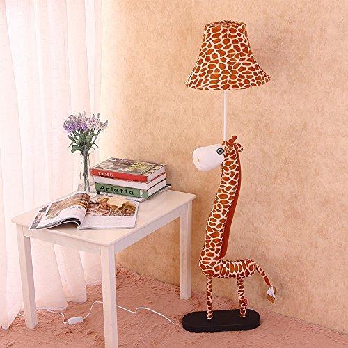 Lampe Cailin, Lampe de plancher pour enfant Personnalité Tissu Art Cartoon Girafe Éclairage décoratif Bande télécommandée Appliquer à la chambre Salon Étude Lampe de sol intérieure ( Couleur : Interrupteur de commande à distance )
