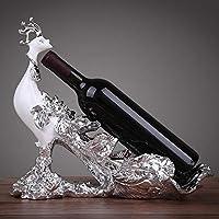 CN Estante del Vino Artesanías De Resina De Estilo Europeo Vino Gabinete Decoraciones Moda Sala Accesorios para El Hogar Adornos,Plata,1