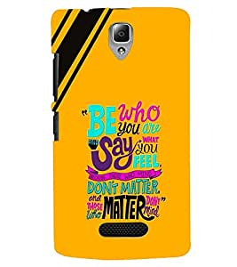 printtech Matter Quote Back Case Cover for Lenovo A2010
