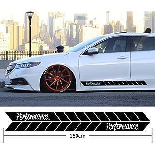 Performance Auto Seitenstreifen Aufkleber Seitenaufkleber Dekor Static Low Tuning Rennstreifen Tuningstreifen Side Strips Autoaufkleber