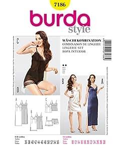 Burda B7186 Patron de Couture Combinaison de Lingerie 19 x 13 cm