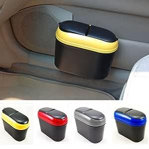 Divinezon Multicolour Car Trash Rubbish Can Garbage Dust Dustbin Box Case Holder Bin Hook