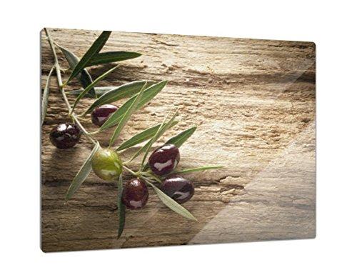 Klebefieber Glas-Schneidebrett Olivenzweig B x H: 39cm x 28cm