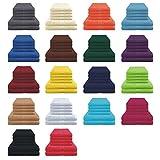 Handtücher / Duschtücher Set - 4x Handtuch + 2x Duschtuch - 100% Baumwolle - Farbe Türkis