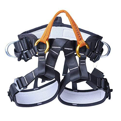 SunTime Mehrzweck Klettergurt Taille Hüfte Schutz Gürtel für Bergsteigen Baumklettern (Halber Körper 3) (Tasche 1400)