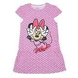 Mickey & Friends Girls' Dress (MF0EDR1592_White/ Salmon Rose_7 - 8 years)