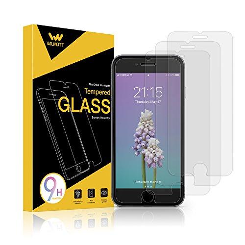 WILMOTT Displayschutzfolie für iPhone 8 Plus/7 Plus /6s Plus Panzerglasfolie Panzerglas 9H Ultra-Clear Kratzfestes Schutzfolie, 6 Plus Handy Schutzglas Film (3 Stück)