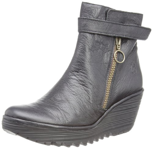 Fly London Yava, Boots femme Noir (Black)