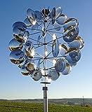 Wind Dancer Univers 56 OW2741 - Wunderschöne Sommerdeko, Windspiel, Geschenk für Gartenfreunde, Außendeko, Geburtstagsgeschenk, Muttertagsgeschenk, Windchime Outdoor Dekoration, Windrad, Windläufer, Edelstahl Deko