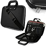 Sterling Cady Collection Durable Briefcase Carrying Case for 15.6 in Laptops / Notebooks (Black)