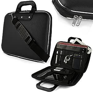 Sterling's Durable Briefcase Laptop Bag 15.6In with Shoulder Strap (Black)