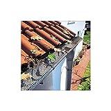 Haushalt International Canalón–Estera 6m, incluye grapas rejilla protectora hojas Protección Canalón hojas Fang hojas Stop