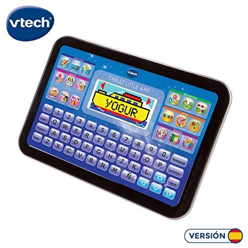 VTech Little App Tableta educativa Infantil con Pantalla LCD a Color, Contenido Especial para niños, enseña destrezas matemáticas, lingüísticas, Creativas y cognitivas, Negro (3480-155222)