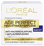 L'Oreal Paris Age Perfect Gesichtspflege, mit Soja-Ceramid für die Nacht, mildert Altersflecken und strafft die Haut, 50 ml