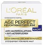 L'Oréal Paris L'Oreal Paris Gesichtscreme Age Perfect Feuchtigkeit Soja-Substanz Gesichtspflege Nacht 50ml