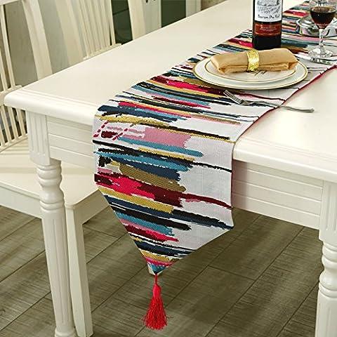 Tabella colori moda flag metropoli contemporanea tabella di caffè di bandiere e tovaglie colorate cassetti (Tela Cassetti)