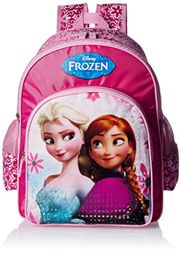 Frozen Polyester Pink School Bag (MBE-WDP0661)