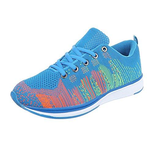 Ital-Design, Sneaker donna Hellblau Multi BY15280