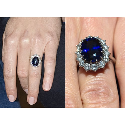 Vorra Fashion Look elegante forma ovale blu zaffiro bianco platino placcato argento 925anello di fidanzamento, Argento, 17,5, colore: bianco, cod. 920015_ - Ovale Platino Anello