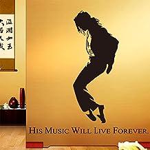 Oren Empower Dancing Star Michael Jackson Pvc Vinyl Large Multipurpose Wall Sticker (Finished Size On Wall - 150(W) X 140(H) Cm)