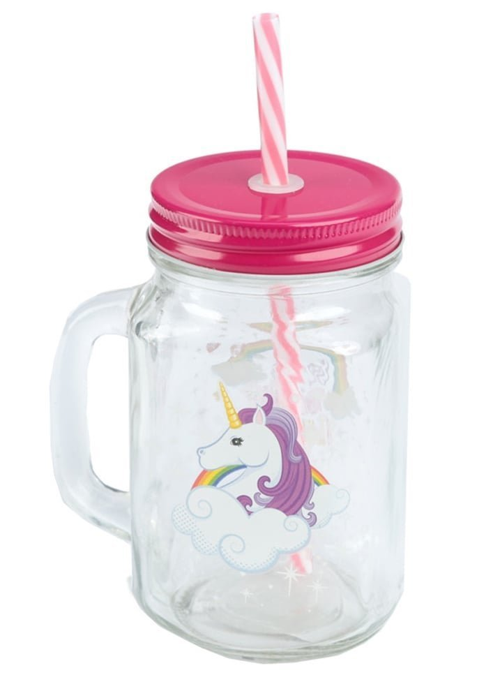 Puckator-Enchanted-Rainbow-Glass-Jar-with-Stopper-and-cannuccia-unicorno-Pink