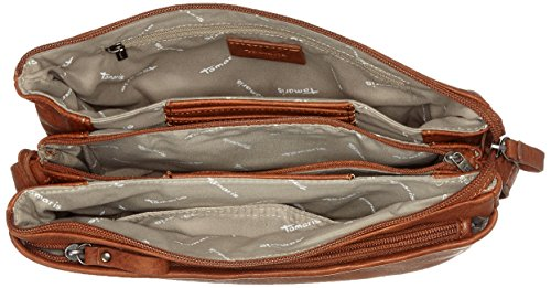 Tamaris Damen Franca Crossbody Bag M Umhängetasche, 18x6x21 cm Braun (Cognac)