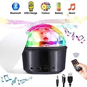 luz y sonido para eventos: Luces de discoteca, Tencoz Bola de discoteca 7 colores con modo de luz de humor,...