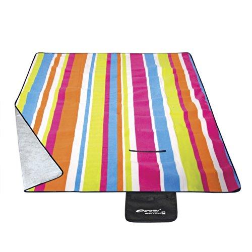 Spokey® Picknickdecke Stranddecke für eine schöne Landpartie diverse Designs + UP® Aufkleber, Designs: PICNIC RAINBOW - 831332