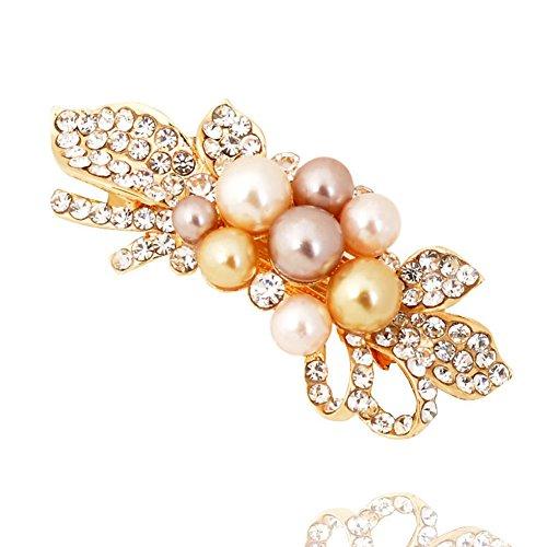 La versione coreana dell'imitazione perla pin/ accessori capelli clip/ top morsetto orizzontale/ ragazza capelli (Classic Cappello Pin)
