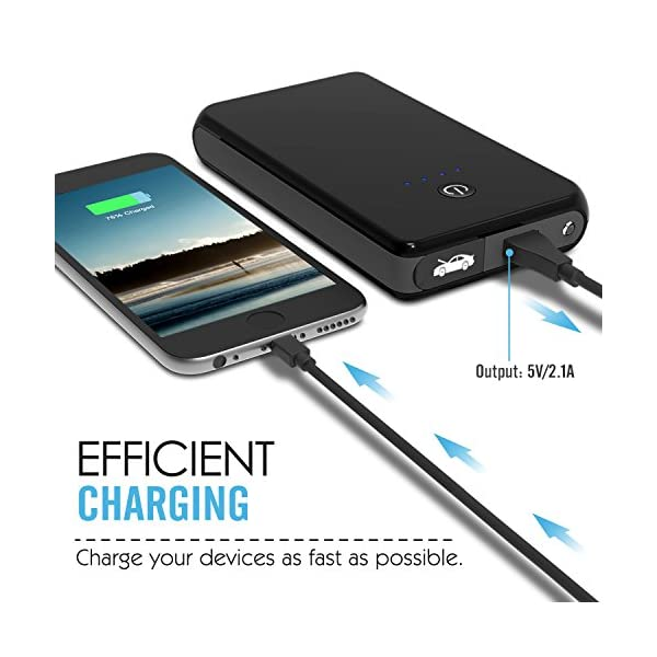 MoKo Baterías de Coche – Portátil Jump Starter Multi-Función Cargador Externo / 8000mAh 400A Power Bank para Vehículo, Arrancador Lámpara de Emergencia/Linterna, Amarillo