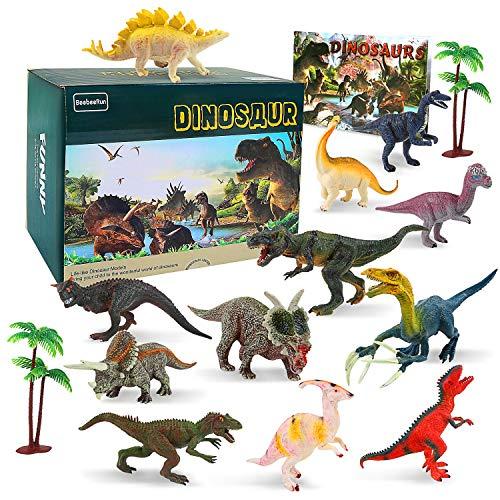 BeebeeRun Dinosaurier Spielzeug für Kinder,15 Stück Dinosaurier Figuren Set,Dinosaurier Spielzeug ab 3 4 5 6 7jahren,pädagogisches Spielzeug für Jungs Mädchen - Kinder Dinosaurier-spielzeug Für