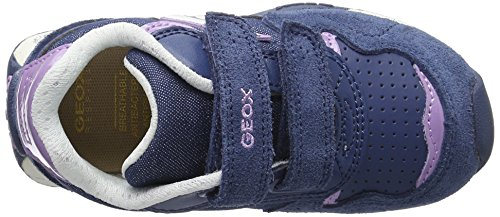 Geox Mädchen Jr New Jocker Girl A Low-Top Blau (Avio/lilacc4259)