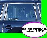 Ich nix verkaufen meine Auto Schrift Sticker OEM Fun Aufkleber Hater Domo Bitch Race Power Honda PS JDM