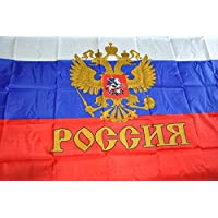 MOFAN Russian Empire Imperial Flag Presidential Polyester Nicely Stitched and Vivid Bright Color CCCP Double Eagle Flags with 2 Solid Grommets 3x5ft Indoor/Outdoor Home Garden Decorations World Cup