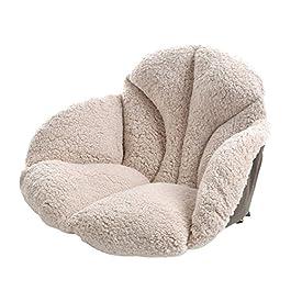 Coussin d'assise en Peluche, Plus épais Taille Support Tatami Chaise Taie d'oreiller avec Attaches sciatique Dorsale…