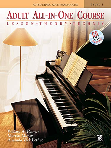 ADULT ALL IN ONE COURSE (Alfred's Basic Adult Piano Course) (Alfred Publishing Company)