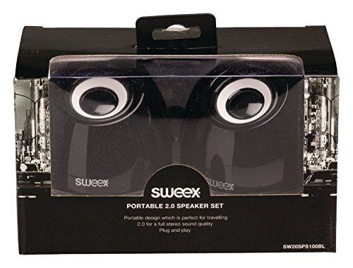 Sweex USB Design Lautsprecher System für Pc Computer Laptop Notebook Gamer Gaming Box Boxen Lautsprechersystem schwarz