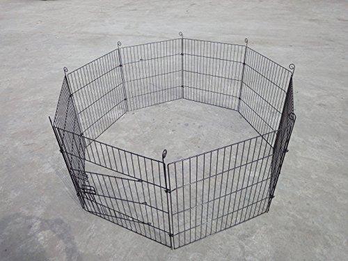 D2B-61x61CM-Pet-Play-Pen-Dog-Rabbit-Puppy-Playpen-Cage-Folding-Run-Fence-Garden