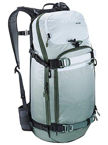 EVOC Sports GmbH Herren Fr Pro Protektor Rucksack, Olive/White, 56 x 27 x 14 cm, 20 Liter