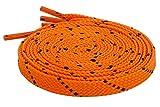 Schnürsenkel Flach Flachsenkel Streifen für Lässige Outdoor Schuhe Wanderschuhe Sportschuhe Turnschuhe Stiefel Twill - 8mm breit Orange-Schwarz 100 CM