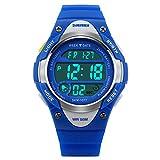 Skmei Kids Blue LED Backlight Stainless Steel Case Waterproof Digital Sports Casual Watch