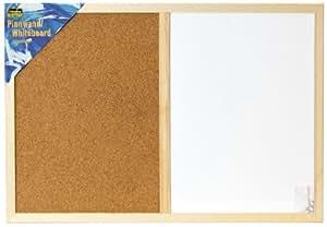 Idena - 568016 - Combiné tableau blanc / tableau liège - Dim. 40 x 60 cm env.