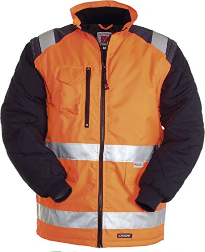 Giubbotto da lavoro giacca alta visibilità con maniche staccabili e tasche hiway, colore: arancio fluo, taglia: 2xl