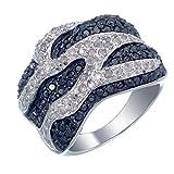 Vir Jewels, Anillo De Mujer 925 Plata Con Negro Diamante 1.75 CT, Talla del Anillo 14